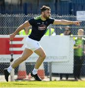 22 June 2019; Fergal Conway of Kildare celebrates after scoring his side's first goal of the game during the GAA Football All-Ireland Senior Championship Round 2 match between Antrim and Kildare at Corrigan Park in Belfast, Antrim. Photo by Ramsey Cardy/Sportsfile
