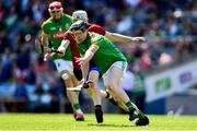 22 June 2019; Cathal McCabe of Meath in action against Eoghan Sands of  Down during the Christy Ring Cup Final match between Down and Meath at Croke Park in Dublin.  Photo by Matt Browne/Sportsfile