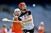 22 June 2019; Tony O'Kelly Lynch of Sligo in action against Patrick Quinn of Armagh during the Nicky Rackard Cup Final match between Armagh and Sligo at Croke Park in Dublin.  Photo by Matt Browne/Sportsfile