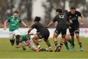 22 June 2019; Ronan Watters of Ireland is tackled during the New World Rugby U20 Championship Pool B match between Zealand and Ireland at Club Old Resian in Rosario, Argentina. Photo by Florencia Tan Jun/Sportsfile