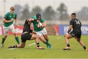 22 June 2019; Josh Wycherley of Ireland is tackled during the New World Rugby U20 Championship Pool B match between Zealand and Ireland at Club Old Resian in Rosario, Argentina. Photo by Florencia Tan Jun/Sportsfile
