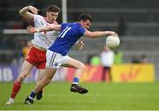22 June 2019; Barry McKeon of Longford in action against Rory Brennan of Tyrone during the GAA Football All-Ireland Senior Championship Round 2 match between Longford and Tyrone at Glennon Brothers Pearse Park in Longford.  Photo by Eóin Noonan/Sportsfile
