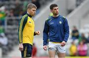 22 June 2019; Peter Crowley, left, and Paul Geaney of Kerry prior to the Munster GAA Football Senior Championship Final match between Cork and Kerry at Páirc Ui Chaoimh in Cork.  Photo by Brendan Moran/Sportsfile