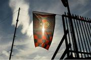 22 June 2019; A Down flag flys of the stand before the GAA Football All-Ireland Senior Championship Round 2 match between Down and Mayo at Pairc Esler in Newry, Down.  Photo by Oliver McVeigh/Sportsfile