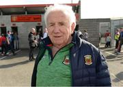 22 June 2019; Mayo supporter Ray King from Castlebar supporting Mayo for over 75 years before the GAA Football All-Ireland Senior Championship Round 2 match between Down and Mayo at Pairc Esler in Newry, Down.  Photo by Oliver McVeigh/Sportsfile