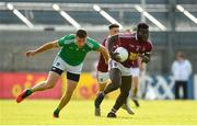 22 June 2019; Boidu Sayeh of Westmeath in action against Tommie Childs of Limerick during the GAA Football All-Ireland Senior Championship Round 2 match between Westmeath and Limerick at TEG Cusack Park in Mullingar, Co. Westmeath. Photo by Diarmuid Greene/Sportsfile