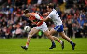 22 June 2019; Andrew Murin of Armagh is tackled by Conor Boyle of Monaghan during the GAA Football All-Ireland Senior Championship Round 2 match between Monaghan and Armagh at St Tiarnach's Park in Clones, Monaghan.  Photo by Ray McManus/Sportsfile