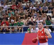 22 June 2019; Kieran Molloy of Ireland prior to his Men's Welterweight preliminary round bout against Goce Janeski of Macedonia at Uruchie Sports Palace on Day 2 of the Minsk 2019 2nd European Games in Minsk, Belarus. Photo by Seb Daly/Sportsfile