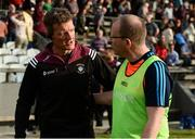 22 June 2019; Westmeath manager Jack Cooney and Limerick manager Billy Lee in conversation after the GAA Football All-Ireland Senior Championship Round 2 match between Westmeath and Limerick at TEG Cusack Park in Mullingar, Co. Westmeath. Photo by Diarmuid Greene/Sportsfile