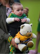 22 June 2019; Sadhbh Culligan, aged 6 months, from Aughawillian, Co Leitrim, but with a Clare father, after the GAA Football All-Ireland Senior Championship Round 2 match between Leitrim and Clare at Avantcard Páirc Seán Mac Diarmada in Carrick-on-Shannon, Leitrim. Photo by Daire Brennan/Sportsfile