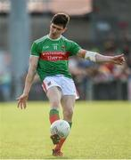 22 June 2019; Conor Loftus of Mayo scoring a point during the GAA Football All-Ireland Senior Championship Round 2 match between Down and Mayo at Pairc Esler in Newry, Down.  Photo by Oliver McVeigh/Sportsfile