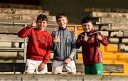 22 June 2019; Westmeath supporters Beau Greene, aged 12, Andrew Brennan, aged 12, and Eli Greene, aged 9, after the GAA Football All-Ireland Senior Championship Round 2 match between Westmeath and Limerick at TEG Cusack Park in Mullingar, Co. Westmeath. Photo by Diarmuid Greene/Sportsfile