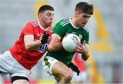 22 June 2019; Adrian Spillane of Kerry in action against Luke Connolly of Cork during the Munster GAA Football Senior Championship Final match between Cork and Kerry at Páirc Ui Chaoimh in Cork.  Photo by Brendan Moran/Sportsfile