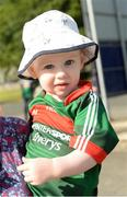 22 June 2019; Two year old Mayo supporter Thomas Harrison from Ballina before the GAA Football All-Ireland Senior Championship Round 2 match between Down and Mayo at Pairc Esler in Newry, Down.  Photo by Oliver McVeigh/Sportsfile