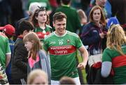 22 June 2019; A happy Michael Plunkett of Mayo after the GAA Football All-Ireland Senior Championship Round 2 match between Down and Mayo at Pairc Esler in Newry, Down.  Photo by Oliver McVeigh/Sportsfile