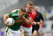 22 June 2019; Stephen O'Brien of Kerry is tackled by Sean White of Cork during the Munster GAA Football Senior Championship Final match between Cork and Kerry at Páirc Ui Chaoimh in Cork.  Photo by Brendan Moran/Sportsfile