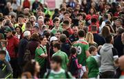 22 June 2019; A large Mayo support comes on to the field to mingle with the players after the GAA Football All-Ireland Senior Championship Round 2 match between Down and Mayo at Pairc Esler in Newry, Down.  Photo by Oliver McVeigh/Sportsfile