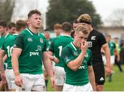 22 June 2019; Craig Casey of Ireland, right, following the World Rugby U20 Championship Pool B match between New Zealand and Ireland at Club Old Resian in Rosario, Argentina. Photo by Florencia Tan Jun/Sportsfile