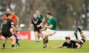 22 June 2019; Liam Turner of Ireland passes the ball during the World Rugby U20 Championship Pool B match between New Zealand and Ireland at Club Old Resian in Rosario, Argentina. Photo by Florencia Tan Jun/Sportsfile