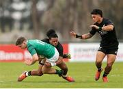 22 June 2019; Cormac Foley of Ireland is tackled during the World Rugby U20 Championship Pool B match between New Zealand and Ireland at Club Old Resian in Rosario, Argentina. Photo by Florencia Tan Jun/Sportsfile