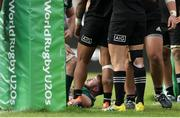 22 June 2019; Dylan Tierney-Martin of Ireland after scoring a try during the World Rugby U20 Championship Pool B match between New Zealand and Ireland at Club Old Resian in Rosario, Argentina. Photo by Florencia Tan Jun/Sportsfile