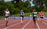 22 June 2019; A general view of the Girls 4x100m Relay during the Irish Life Health Tailteann Inter-provincial Games at Santry in Dublin. Photo by Sam Barnes/Sportsfile