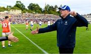 22 June 2019; Monaghan manager Malachy O'Rourke prepares to shake hands with the Armagh manager after the GAA Football All-Ireland Senior Championship Round 2 match between Monaghan and Armagh at St Tiarnach's Park in Clones, Monaghan.  Photo by Ray McManus/Sportsfile