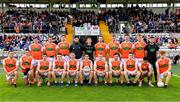 22 June 2019; The Armagh squad before the GAA Football All-Ireland Senior Championship Round 2 match between Monaghan and Armagh at St Tiarnach's Park in Clones, Monaghan.  Photo by Ray McManus/Sportsfile