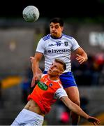 22 June 2019; Rian O'Neill of Armagh and Drew Wylie of Monaghan during the GAA Football All-Ireland Senior Championship Round 2 match between Monaghan and Armagh at St Tiarnach's Park in Clones, Monaghan.  Photo by Ray McManus/Sportsfile