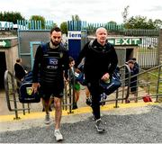 23 June 2019; Donegal Manager Declan Bonner, right, and Karl Lacey selector arriving forthe Ulster GAA Football Senior Championship Final match between Donegal and Cavan at St Tiernach's Park in Clones, Monaghan. Photo by Oliver McVeigh/Sportsfile