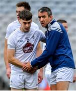 23 June 2019; John Doyle of Kildare, right, encourages team-mate Darragh Malone prior to the Leinster Junior Football Championship Final match between Meath and Kildare at Croke Park in Dublin. Photo by Brendan Moran/Sportsfile
