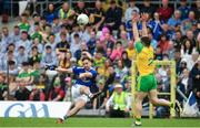 23 June 2019; Niall Murray of Cavan attempts to score a point despite the efforts of Paddy McGrath of Donegal during the Ulster GAA Football Senior Championship Final match between Donegal and Cavan at St Tiernach's Park in Clones, Monaghan. Photo by Sam Barnes/Sportsfile