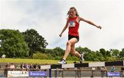 22 June 2019; Eala McDermot of Mercy Sligo Co. Sligo, competing in the Girls 1500m Steeple Chase  during the Irish Life Health Tailteann Inter-provincial Games at Santry in Dublin. Photo by Sam Barnes/Sportsfile