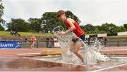 22 June 2019; Aaron Brennan of Colaiste Mhuire Ballymote, Co. Sligo, competing in the Boys 1500m Steeplechase during the Irish Life Health Tailteann Inter-provincial Games at Santry in Dublin. Photo by Sam Barnes/Sportsfile