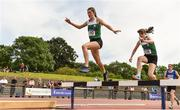 22 June 2019; Aine Kirwan of Loreto Kilkenny, Co. Kilkenny, on her way to winning the Girls 1500m steeplechase event during the Irish Life Health Tailteann Inter-provincial Games at Santry in Dublin. Photo by Sam Barnes/Sportsfile