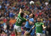 23 June 2019; John Small of Dublin in action against Cillian O'Sullivan of Meath during the Leinster GAA Football Senior Championship Final match between Dublin and Meath at Croke Park in Dublin. Photo by Daire Brennan/Sportsfile