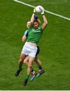 23 June 2019; Michael Newman of Meath in action against Philip McMahon of Dublin during the Leinster GAA Football Senior Championship Final match between Dublin and Meath at Croke Park in Dublin. Photo by Brendan Moran/Sportsfile