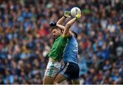 23 June 2019; Michael Newman of Meath in action against Philip McMahon of Dublin during the Leinster GAA Football Senior Championship Final match between Dublin and Meath at Croke Park in Dublin. Photo by Daire Brennan/Sportsfile