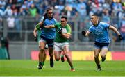 23 June 2019; James McEntee of Meath in action against James McCarthy, left, and Con O'Callaghan of Dublin during the Leinster GAA Football Senior Championship Final match between Dublin and Meath at Croke Park in Dublin. Photo by Daire Brennan/Sportsfile