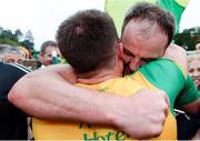 23 June 2019; Michael Murphy of Donegal, right and Paddy McGrath celebrate following the Ulster GAA Football Senior Championship Final match between Donegal and Cavan at St Tiernach's Park in Clones, Monaghan. Photo by Sam Barnes/Sportsfile