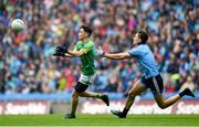 23 June 2019; James Conlon of Meath in action against Michael Fitzsimons of Dublin during the Leinster GAA Football Senior Championship Final match between Dublin and Meath at Croke Park in Dublin. Photo by Daire Brennan/Sportsfile