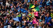 23 June 2019; Supporters in the Davin Stand ahead of the Leinster GAA Football Senior Championship Final match between Dublin and Meath at Croke Park in Dublin. Photo by Daire Brennan/Sportsfile