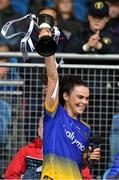 23 June 2019; Captain of Roscommon Sinead Kenny lifts the cup after the TG4 Ladies Football Connacht Intermediate Football Championship Final match between Roscommon and Sligo at Elvery's MacHale Park in Castlebar, Mayo. Photo by Matt Browne/Sportsfile