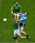23 June 2019; Bryan Menton of Meath and Brian Fenton of Dublin compete for a kickout during the Leinster GAA Football Senior Championship Final match between Dublin and Meath at Croke Park in Dublin. Photo by Brendan Moran/Sportsfile