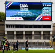 23 June 2019; Meath manager Andy McEntee patrols the sideline as the scoreboard shows his side have yet to score in the 30th minute during the Leinster GAA Football Senior Championship Final match between Dublin and Meath at Croke Park in Dublin. Photo by Daire Brennan/Sportsfile
