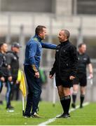 23 June 2019; Meath manager Andy McEntee argues with fourth official David Hickey during the Leinster GAA Football Senior Championship Final match between Dublin and Meath at Croke Park in Dublin. Photo by Daire Brennan/Sportsfile