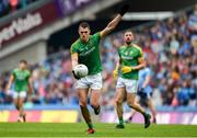 23 June 2019; Bryan Menton of Meath scores his side's first point in the 33rd minute during the Leinster GAA Football Senior Championship Final match between Dublin and Meath at Croke Park in Dublin. Photo by Daire Brennan/Sportsfile