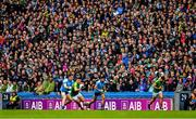 23 June 2019; Supporters of both sides, amongst the 47,027 attendance, watch the game from the Hogan Stand during the Leinster GAA Football Senior Championship Final match between Dublin and Meath at Croke Park in Dublin. Photo by Ray McManus/Sportsfile
