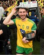 23 June 2019; Ryan McHugh of Donegal celebrates after the Ulster GAA Football Senior Championship Final match between Donegal and Cavan at St Tiernach's Park in Clones, Monaghan. Photo by Oliver McVeigh/Sportsfile