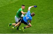 23 June 2019; Shane McEntee of Meath and Paul Mannion of Dublin during the Leinster GAA Football Senior Championship Final match between Dublin and Meath at Croke Park in Dublin. Photo by Brendan Moran/Sportsfile